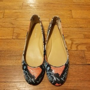 Nine West multicolor snakeskin flats